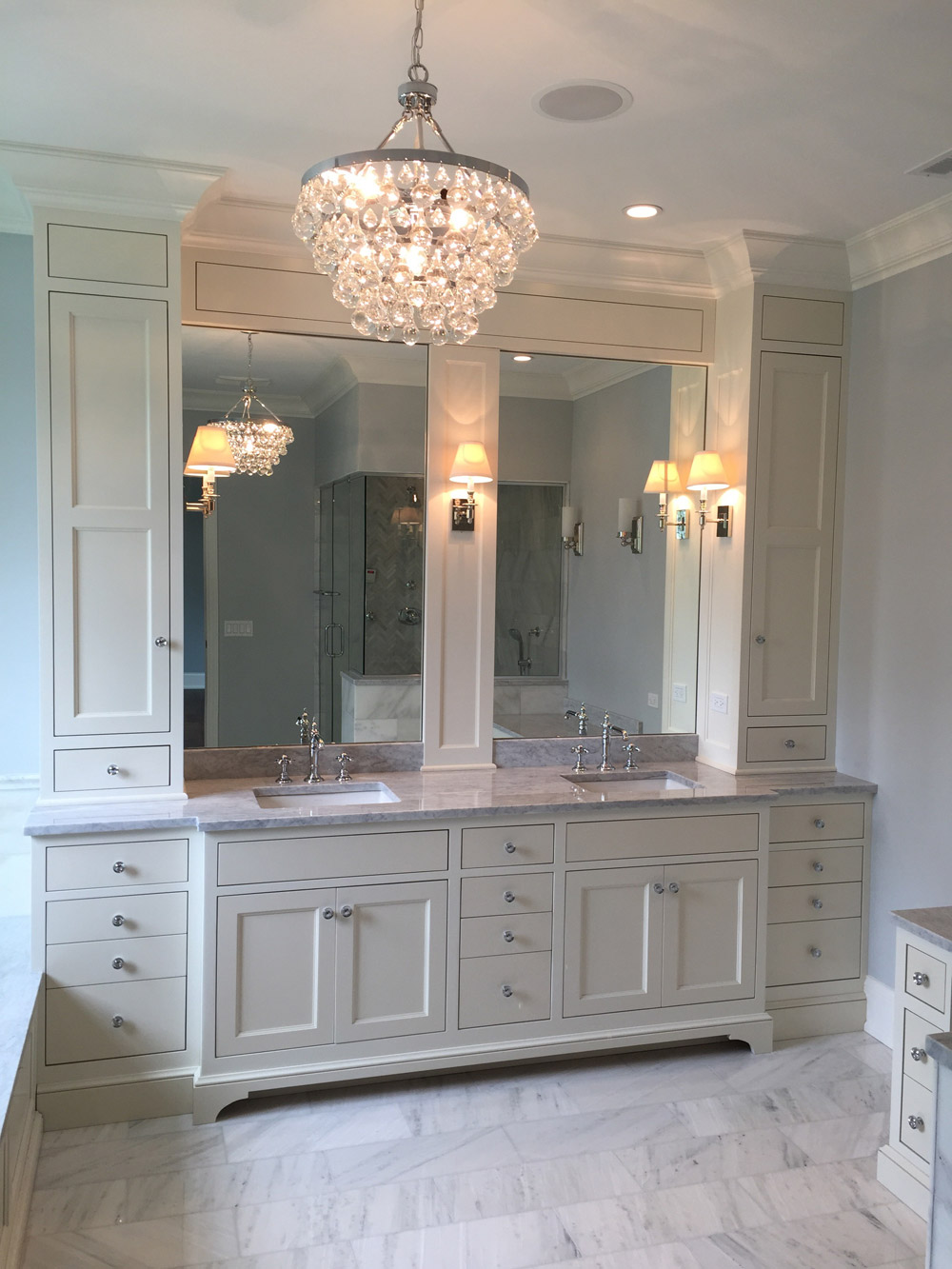 Custom Bathroom Vanity kitchen cabinets and bathroom vanity design | chicago closets