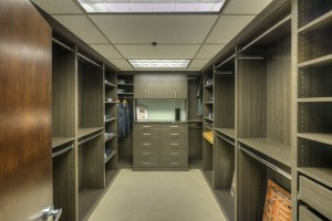 Our showroom includes a custom walk-in closet.