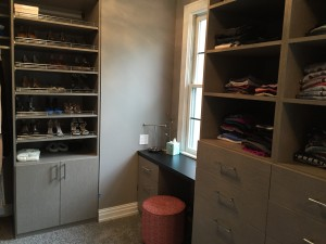 Walk in closet we did in Latitude East melamine 3
