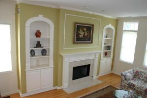 Built-In Living Room Shelves
