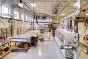 Our facility includes an Olimpic K 800 automatic edgebander.