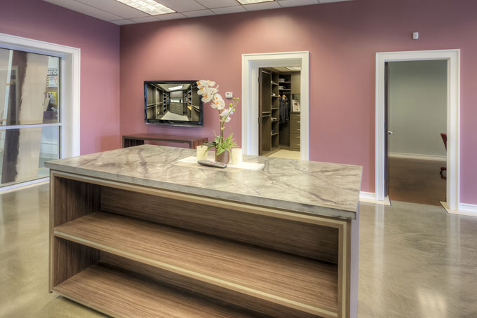 Our showroom allows you to explore different style and finish options.